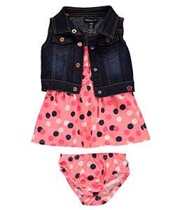 "Limited Too Baby Girls' ""Polka Splashed"" 2-Piece Outfit with Diaper Cover - CookiesKids.com"