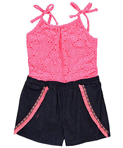 "Limited Too Big Girls' ""Pueblo Trim"" Romper (Sizes 7 – 16) - CookiesKids.com"