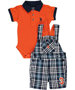 "U.S. Polo Assn. Baby Boys' ""3rd Position"" 2-Piece Outfit - CookiesKids.com"