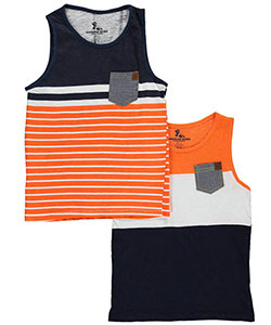 "American Hawk Boys' ""McKinney"" 2-Pack Tank Tops (Sizes 2T – 16) - CookiesKids.com"