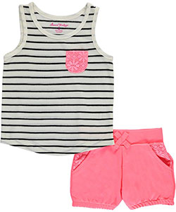 "Sweet Vintage Little Girls' Toddler ""Laidback Lace"" 2-Piece Outfit (Sizes 2T – 4T) - CookiesKids.com"