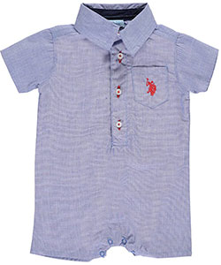 "U.S. Polo Assn. Baby Boys' ""Light Chambray"" Romper - CookiesKids.com"