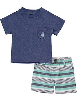 "American Hawk Baby Boys' ""Relaxed Stripes"" 2-Piece Outfit - CookiesKids.com"
