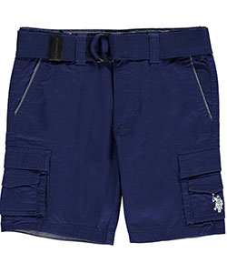 "U.S. Polo Assn. Little Boys' Toddler ""Chambray Cuffs"" Belted Cargo Shorts (Sizes 2T – 4T) - CookiesKids.com"