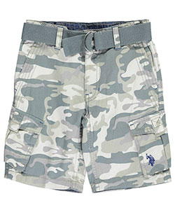 "U.S. Polo Assn. Little Boys' ""Trimmed Camo"" Belted Cargo Shorts (Sizes 4 – 7) - CookiesKids.com"