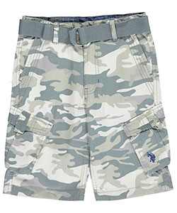 "U.S. Polo Assn. Big Boys' ""Trimmed Camo"" Belted Cargo Shorts (Sizes 8 – 20) - CookiesKids.com"