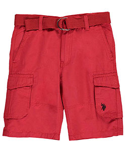 "U.S. Polo Assn. Big Boys' ""Assorted Pockets"" Belted Cargo Shorts (Sizes 8 – 20) - CookiesKids.com"