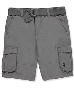 U.S. Polo Assn. Boys' Belted Cargo Shorts - CookiesKids.com