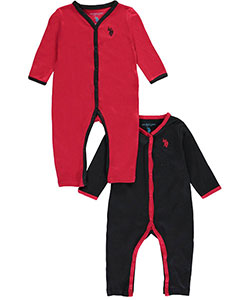 "U.S. Polo Assn. Baby Boys' ""Piped Basics"" 2-Pack Coveralls - CookiesKids.com"