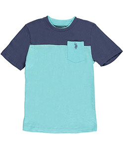 "U.S. Polo Assn. Big Boys' ""Layer Neckline"" T-Shirt (Sizes 8 – 20) - CookiesKids.com"