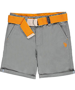 "U.S. Polo Assn. Big Boys' ""Welt Pocket Trim"" Belted Shorts (Sizes 8 – 20) - CookiesKids.com"