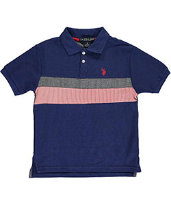 "U.S. Polo Assn. Big Boys' ""Chambray Connection"" Pique Polo (Sizes 8 – 20) - CookiesKids.com"