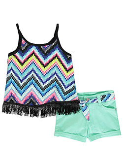 "Pinkhouse Little Girls' ""Geo Fringe"" 2-Piece Outfit (Sizes 4 – 6X) - CookiesKids.com"