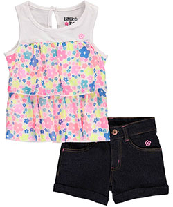 "Limited Too Little Girls' ""Flower Mod"" 2-Piece Outfit (Sizes 4 – 6X) - CookiesKids.com"