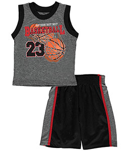 "360 Sports Big Boys' ""Nothin but Net"" 2-Piece Performance Outfit (Sizes 4 – 7) - CookiesKids.com"
