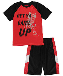 "360 Sports Big Boys' ""Get Ya Game Up"" 2-Piece Performance Outfit (Sizes 8 – 20) - CookiesKids.com"