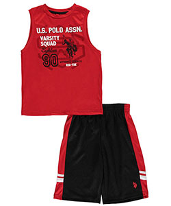 "U.S. Polo Assn. Big Boys' ""1890 Varsity Squad"" 2-Piece Outfit (Sizes 8 – 20) - CookiesKids.com"