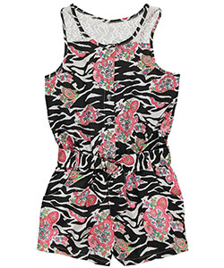 "Pinkhouse Big Girls' ""Carnaby"" Romper (Sizes 7 – 16) - CookiesKids.com"