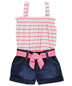 "Pinkhouse Little Girls' ""Lakehouse"" Romper (Sizes 4 – 6X) - CookiesKids.com"