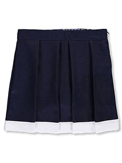U.S. Polo Assn. Big Girls' Contrast Hem Pleated Scooter Skirt (Sizes 7 – 16) - CookiesKids.com
