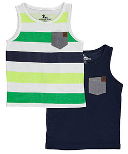 "American Hawk Little Boys' Toddler ""Chambray Pop"" 2-Pack Tank Tops (Sizes 2T – 4T) - CookiesKids.com"