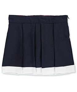 U. S. Polo Assn. Little Girls' Contrast Hem Pleated Scooter Skirt (Sizes 4 – 6X) - CookiesKids.com