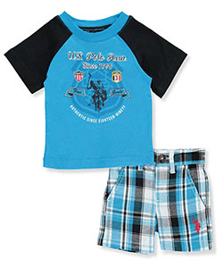"U.S. Polo Assn. Baby Boys' ""USPA Rider"" 2-Piece Outfit - CookiesKids.com"