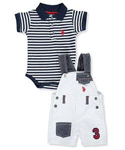 "U.S. Polo Assn. Baby Boys' ""Stripe & Patch"" 2-Piece Outfit - CookiesKids.com"