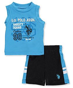 "U.S. Polo Assn. Baby Boys' ""Squad"" 2-Piece Outfit - CookiesKids.com"