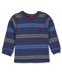 U.S. Polo Assn. Baby Boys' Thermal Stripe L/S Shirt - CookiesKids.com