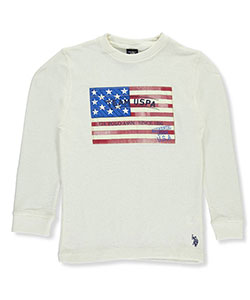 U.S. Polo Assn. Big Boys' L/S Waffle Shirt (Sizes 8 – 20) - CookiesKids.com