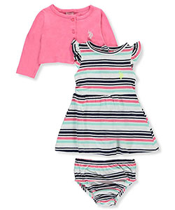 U.S. Polo Assn. Baby Girls' 3-Piece Outfit - CookiesKids.com