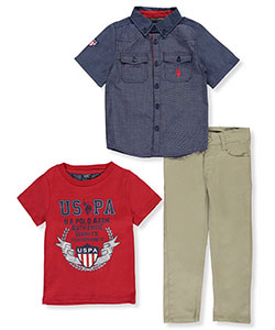 U.S. Polo Assn. Little Boys' Toddler 3-Piece Outfit (Sizes 2T – 4T) - CookiesKids.com
