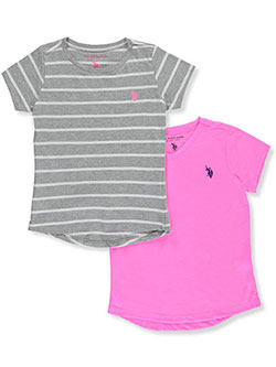 U.S. Polo Assn. Big Girls' 2-Pack T-Shirts (Sizes 7 – 16) - CookiesKids.com