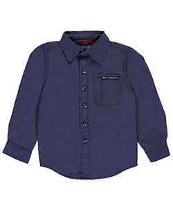 U.S. Polo Assn. Little Boys' Button-Down Shirt (Sizes 4 – 7) - CookiesKids.com
