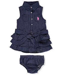 U.S. Polo Assn. Baby Girls' Belted Dress - CookiesKids.com