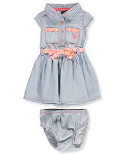 U.S. Polo Assn. Baby Girls' Dress with Diaper Cover - CookiesKids.com