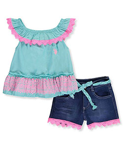 U.S. Polo Assn. Little Girls' 2-Piece Outfit (4 - 6X) - CookiesKids.com