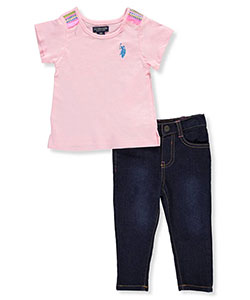 U.S. Polo Assn. Baby Girls' 2-Piece Outfit - CookiesKids.com