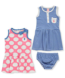 U.S. Polo Assn. Baby Girls' 2-Pack Dresses with Diaper Cover - CookiesKids.com