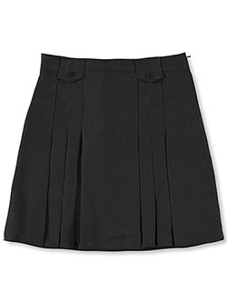 French Toast Big Girls' Pleat and Tab Skirt (Sizes 7 - 16) - CookiesKids.com