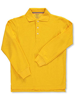 French Toast Unisex L/S Pique Polo (Sizes 8 - 20) - CookiesKids.com