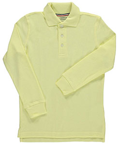 French Toast Unisex L/S Pique Polo (Adult Sizes S – XL) - CookiesKids.com
