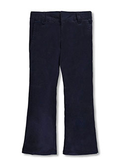 French Toast Big Girls' Flat Front Flare Pants (Sizes 7 - 20) - CookiesKids.com