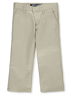 French Toast Little Boys' Flat Front Wrinkle No More Double Knee Pants (Sizes 4 - 7) - CookiesKids.com
