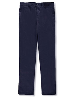 French Toast Big Girls' Stretch Twill Uniform Pants (Sizes 7 - 16) - CookiesKids.com