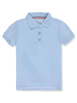 French Toast Big Girls' S/S Fitted Knit Polo With Picot Collar (Sizes 7 - 20) - CookiesKids.com