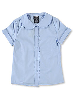 French Toast Big Girls' S/S Peter Pan Fitted Shirt (Sizes 7 - 16) - CookiesKids.com