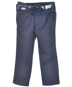 French Toast Big Girls' Stretch Pants with Faux Patent Belt (Sizes 7 - 16) - CookiesKids.com