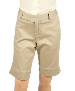 French Toast Below the Knee Bermuda Stetch Short (Sizes 7-14) - CookiesKids.com